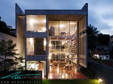 خانه مسکونی چند لایه - معماری خانه با فضای باز