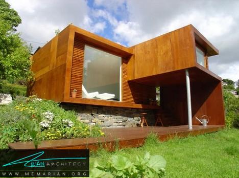 شاهکار خانه کوچک و مدرن - معماری خانه با فضای باز