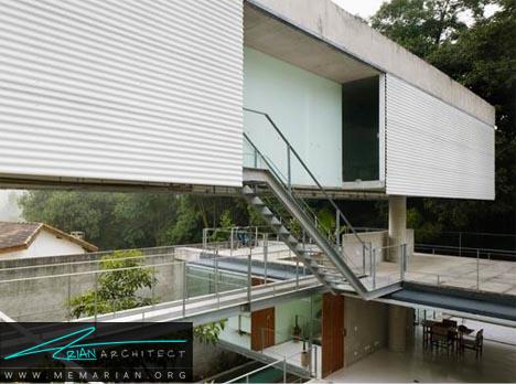 ترکیب مجلل خانه و دفتر کار - معماری خانه با فضای باز