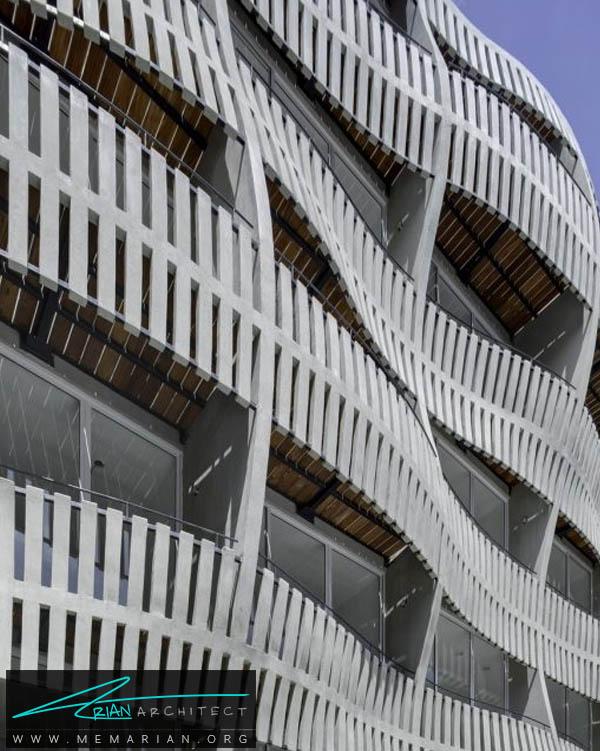 نرده های موج دار در حال ریزش - خطای دید در معماری