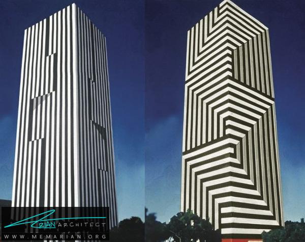 آسمان خراش راه راه - خطای دید در معماری