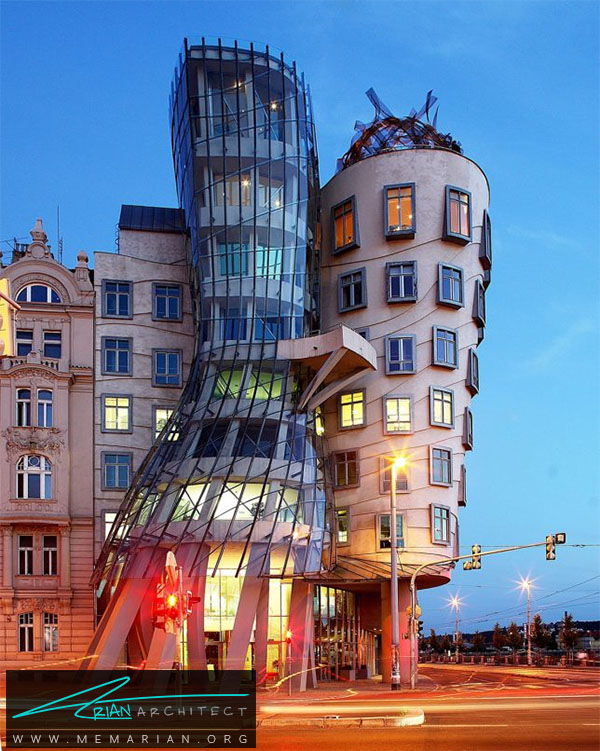 خانه رقاص در پراگ - خطای دید در معماری