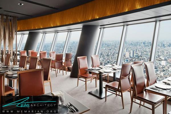 رستوران آسمان خراش شهر توکیو- رستوران های مرتفع