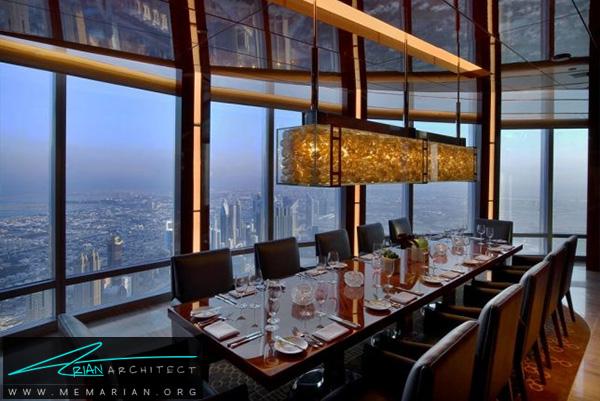 رستوران اتمسفر در برج خلیفه دبی - رستوران های مرتفع