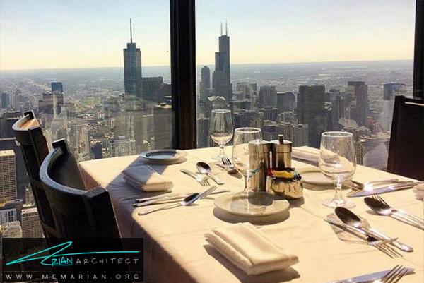رستوران معاصر و کلاسیک آمریکایی- رستوران های مرتفع