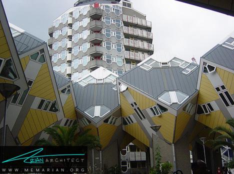 خانه هایی با زاویه 45 درجه - معماری عجیب و غریب