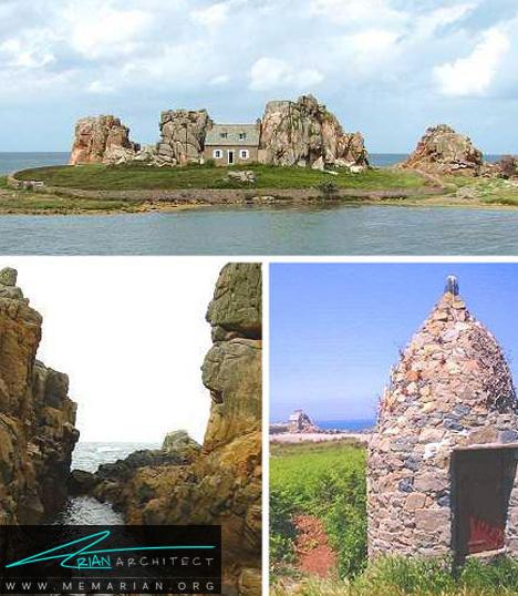 خانه ساحلی بین سنگ های گرانیت - خانه ساحلی عجیب و غریب