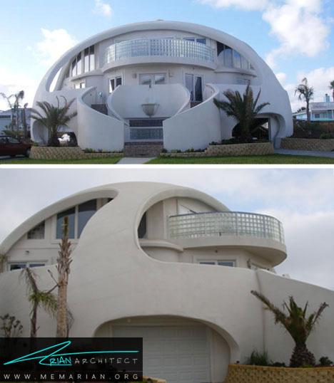 خانه گنبدی مقاوم در برابر طوفان - خانه ساحلی عجیب و غریب