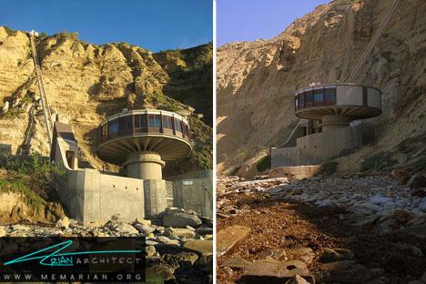 معماری بی نظیر و مقاوم خانه قارچی - خانه ساحلی عجیب و غریب
