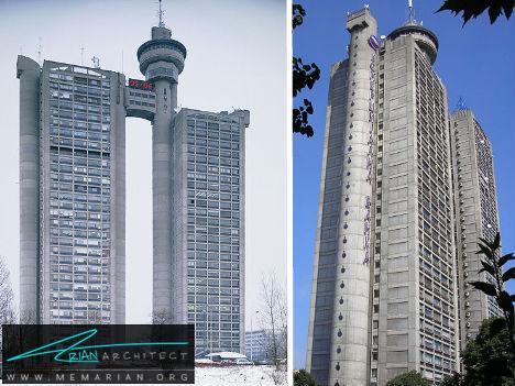 برج های بتنی دو قلو - آسمان خراش های عجیب و غریب
