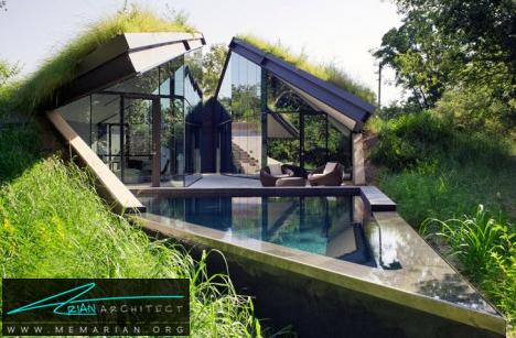 خانه بومی مدرن در آمریکای شمالی-خانه زیرزمینی