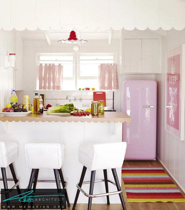 آشپزخانه خود را با لوازم صورتی بسیار شاداب تر کنید -دکوراسیون صورتی