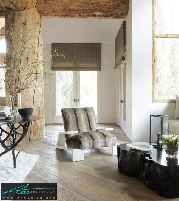 خانه اي با دکوراسيون طبيعي -چیدمان دکوراسیون داخلی