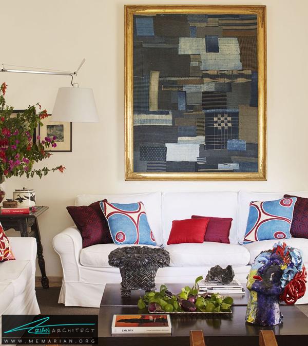 اتاق نشیمن ساده و رنگارنگ -چیدمان دکوراسیون منزل