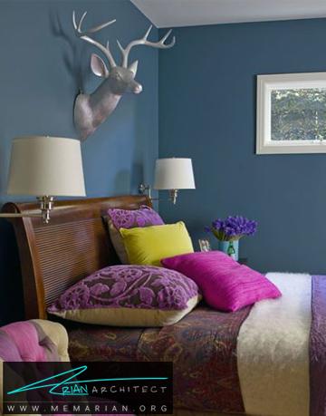 احساس عمیق در اتاق خواب - ترکیب رنگ در اتاق خواب