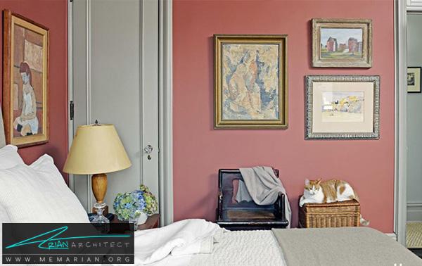 رنگ آمیزی قرمز مات -راهنمای انتخاب رنگ اتاق خواب