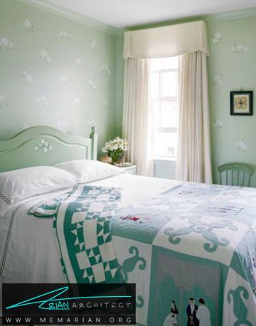 دیوار های سبز کمرنگ -راهنمای انتخاب رنگ اتاق خواب