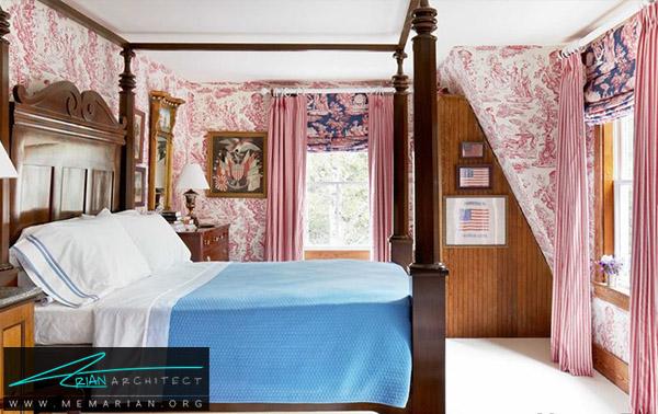 سر تا سر قرمز با تخت خواب آبی -راهنمای انتخاب رنگ اتاق خواب