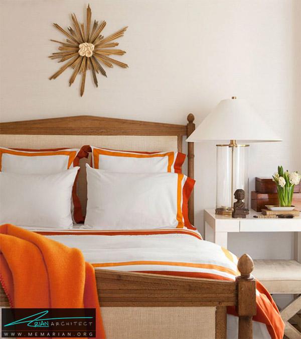 اتاق خواب کرمی نارنجی - راهنمای انتخاب رنگ اتاق خواب