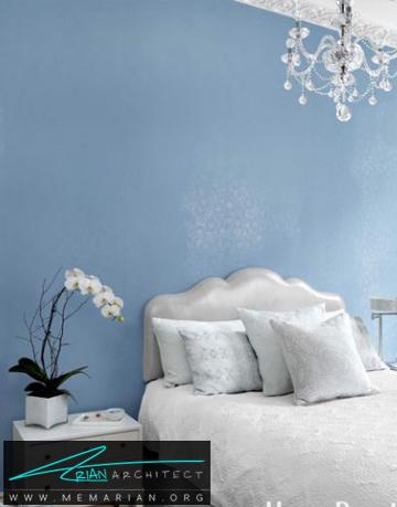 ترکیب رنگ آبی و نقره ای - راهنمای انتخاب رنگ اتاق خواب