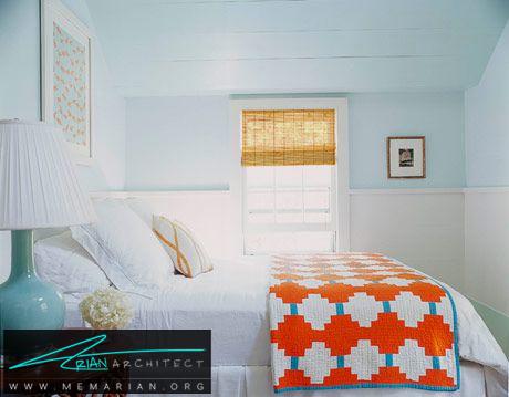 آبی و نارنجی - راهنمای انتخاب رنگ اتاق خواب