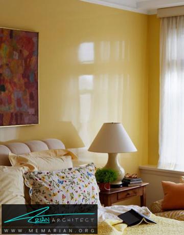 اتاق خواب گرم و رسمی - ترکیب رنگ در اتاق خواب