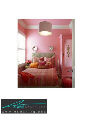 اتاق خواب صورتی دخترانه -ترکیب رنگ در اتاق خواب