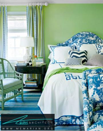 اتاق خواب بهاری -ترکیب رنگ در اتاق خواب