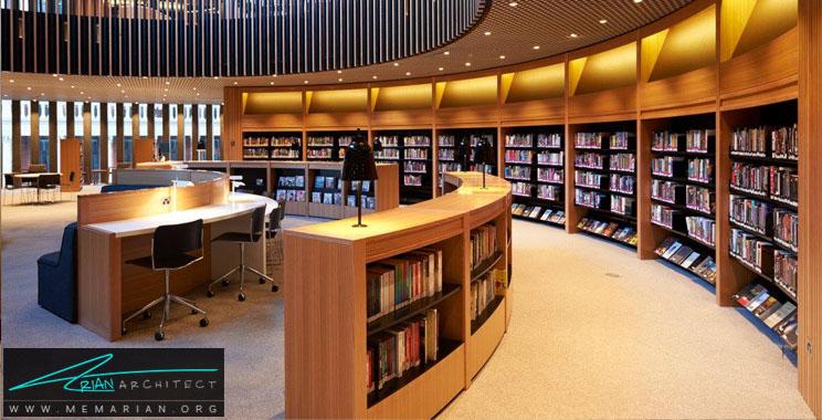 نورپردازی مدرن در کتابخانه