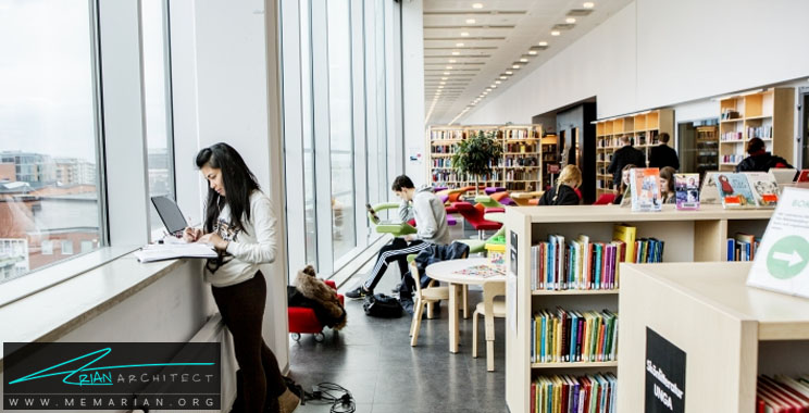 طراحی فضای داخلی کتابخانه