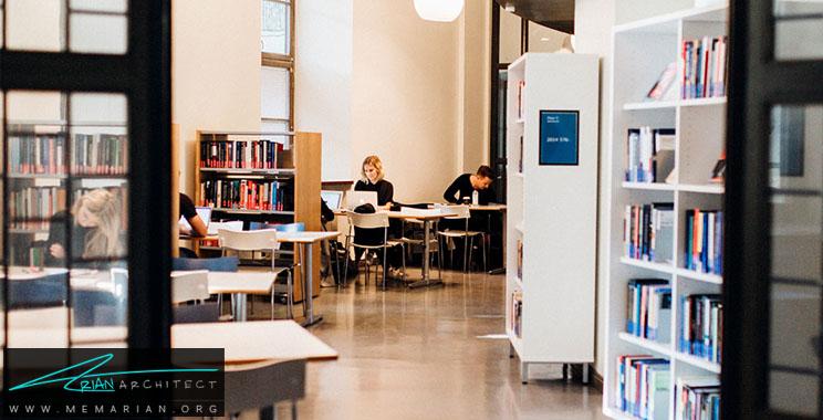طراحی کتابخانه دانشگاهی مدرن