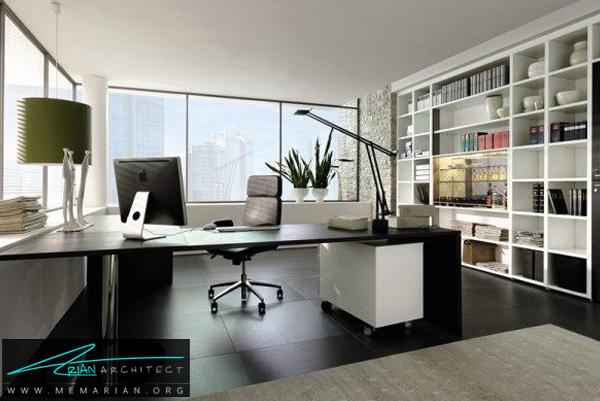 طراحی دفتر کار خانگی لوکس و مدرن