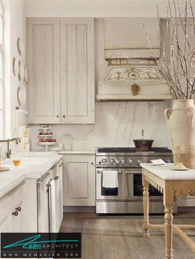 آشپزخانه کلاسیک و ساده -دکوراسیون داخلی آشپزخانه