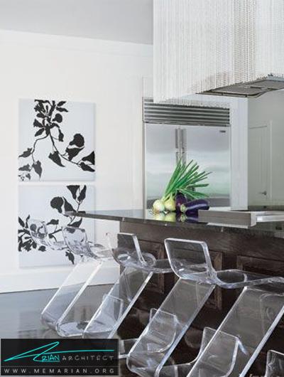 آشپزخانه با دکوراسیون باز و مدرن -دکوراسیون داخلی آشپزخانه
