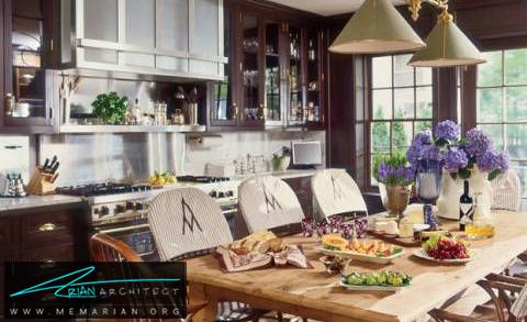 آشپزخانه زیبا و صمیمی -دکوراسیون داخلی آشپزخانه