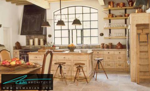 دکوراسیون آشپزخانه جذاب با رنگ های خنثی -دکوراسیون داخلی آشپزخانه