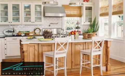 دکوراسیون داخلی آشپزخانه پر نور و درخشان -دکوراسیون داخلی آشپزخانه