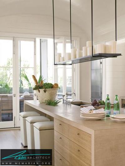 دکوراسیون مدرن و روشن -دکوراسیون داخلی آشپزخانه