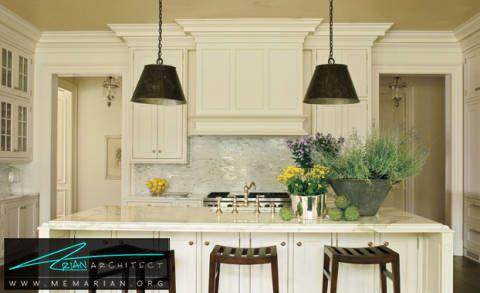 دکوراسیون روشن برای آشپزخانه -دکوراسیون داخلی آشپزخانه
