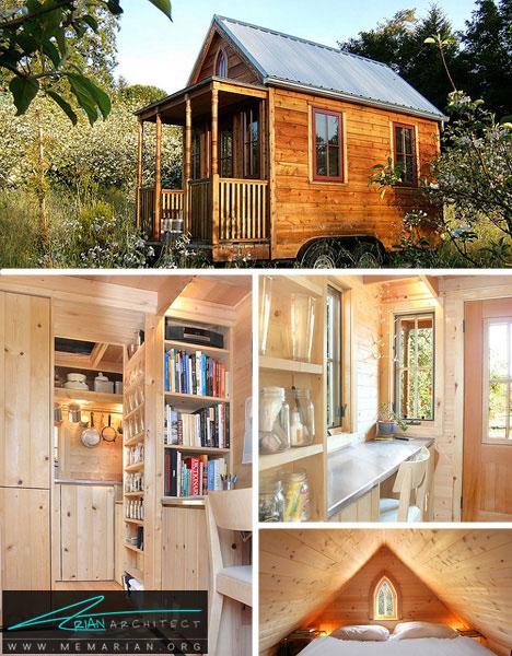 خانه چوبی کوچک و مدرن - خانه های کوچک و ارزان