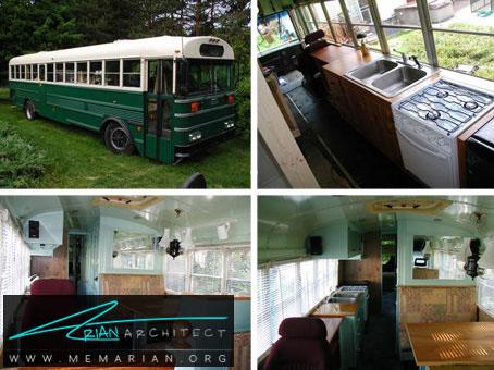 خانه اتوبوسی متحرک- خانه های کوچک و ارزان