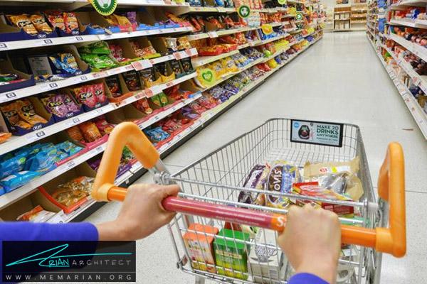 طراحی فروشگاه مواد غذایی - معماری سوپر مارکت