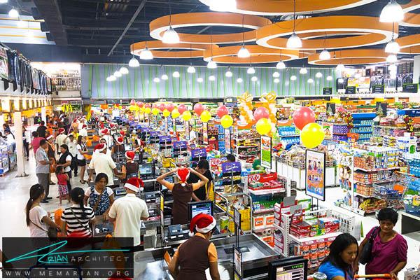 طراحی دکوراسیون و معماری فروشگاه مواد غذایی