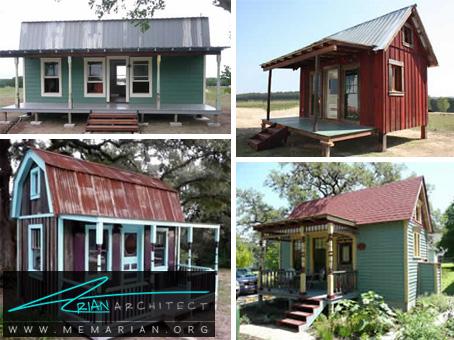 خانه ای کوچک با مواد انبار شده - خانه های کوچک