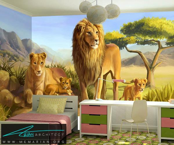 کاغذ دیواری پوستری سه بعدی، پوششی زیبا و متقاوت برای شما