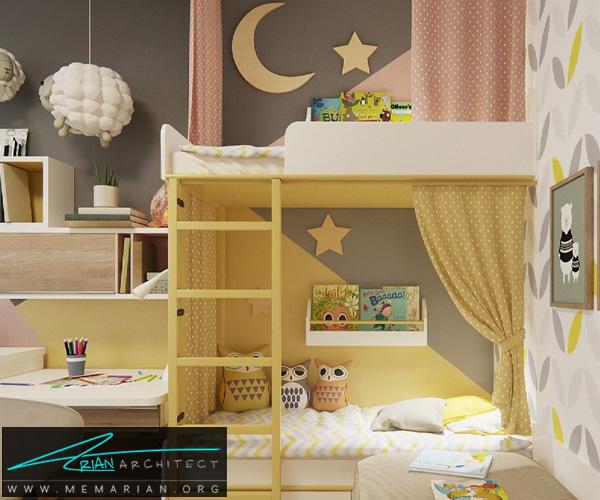 دکوراسیون اتاق مطالعه کودک, دکوراسیون اتاق خواب کودک (2)