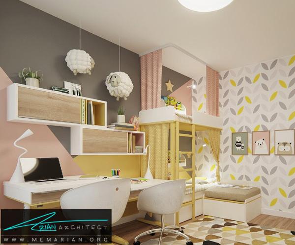 دکوراسیون اتاق مطالعه کودک, دکوراسیون اتاق خواب کودک (3)