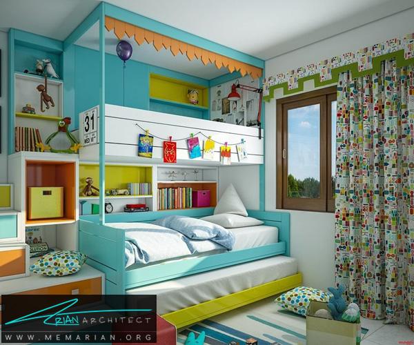 دکوراسیون اتاق مطالعه کودک, دکوراسیون اتاق خواب کودک (5)
