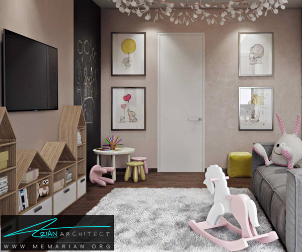 دکوراسیون اتاق مطالعه کودک, دکوراسیون اتاق خواب کودک (9)