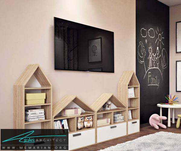 دکوراسیون اتاق مطالعه کودک, دکوراسیون اتاق خواب کودک (12)